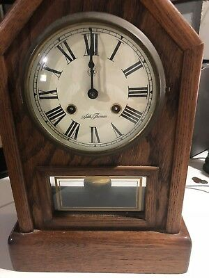 Vintage Seth Thomas Country Cottage #1209 A206-012 German Movement Mantle Clock