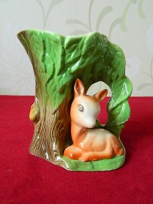 EASTGATE, Withernsea Pottery Jug With Fawn/Deer Mould Number 58.