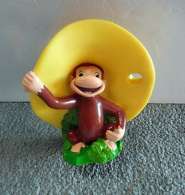 """Curious George Monkee - Unique Rubber Tooth Brush Holder - Universal - 7"""""""