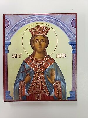 Great Martyr Irene, orthodox icon, size 5, 2/16 x 6 inches