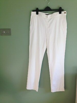 Ladies Ralph Lauren ivory cropped trousers Size UK14, US10