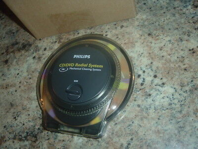 New Philips Cd & Dvd & Blu-Ray Cleaning Radial Cleaner Game & Disc Cleaner Tool