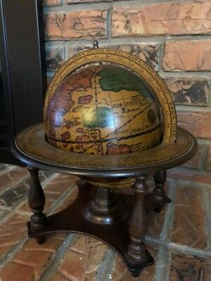 Vintage Antique Table Top Globe Made in Italy