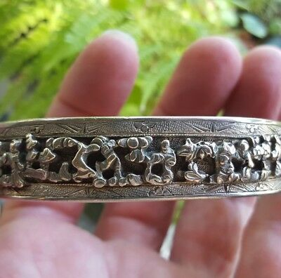 antique Chinese Qing silver bracelet
