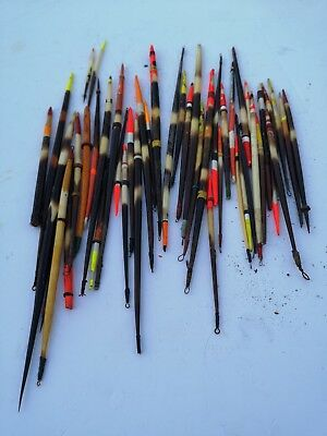 Very large collection of vintage fishing floats porqpine quills