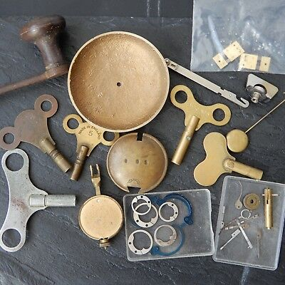CLOCK PARTS Carriage Longcase Crank Keys Weight Pendulum Click Suspension Spring