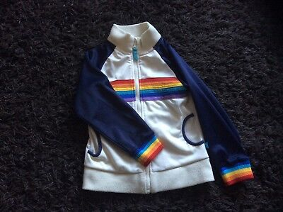 Little Bird retro tracksuit rainbow zip up top aged 5 -6 great condition