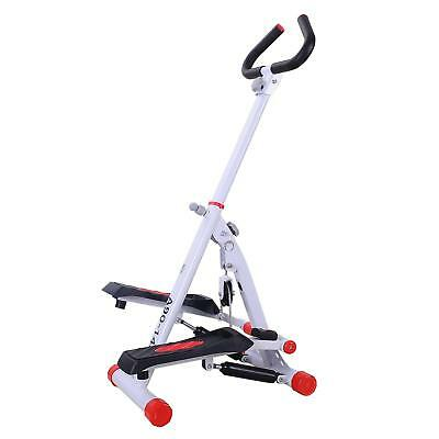 HOMCOM Home Stepper with Handle Hand Grip Workout Fitness Machine Sport Exercise