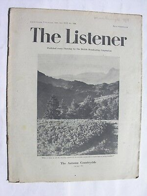THE LISTENER October 7 1943 Malta Solomon Islands Richard Titmuss C.A. Lejeune