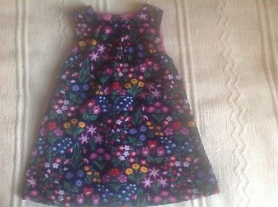 JOJO MAMAN BEBE  pretty floral Pinafore Dress fine Needlecord age 18 - 24 months