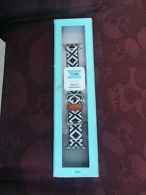 TOMS Woven Apple Watch Band 38mm Brand New in box! Black And White