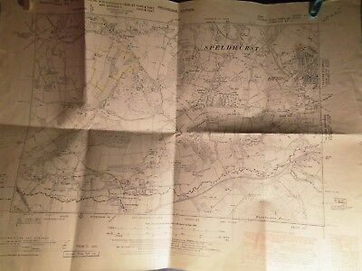 SPELDHURST-GROOMBRIDGE,HIGH ROCKS-SPA VALLEY:1869-1951 planners map-KENT-SUSSEX