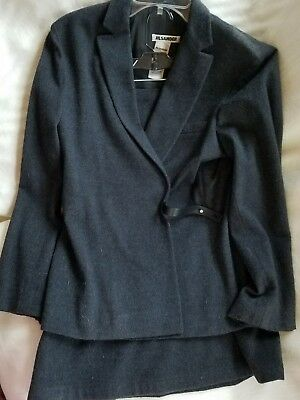 JILL SANDER charcoal skirt suit Wool Blend Size 44