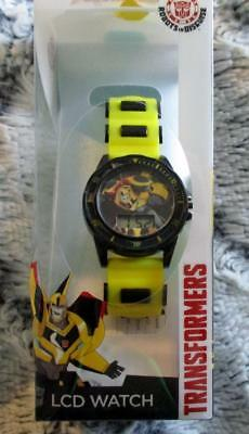 Transformers Robots in Disguise Digital LCD Kid's Wrist Watch NEW