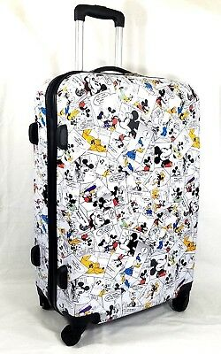 8fc16f152c2 Disney Parks LUGGAGE Mickey Mouse   Friend COMIC STRIP SUITCASE 26