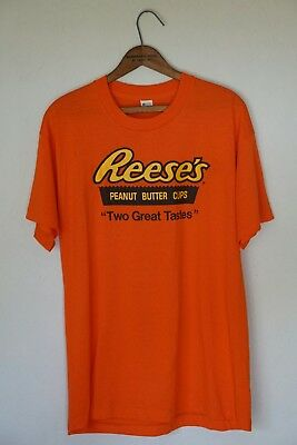 vtg 80s reeses candy shirt large NOS