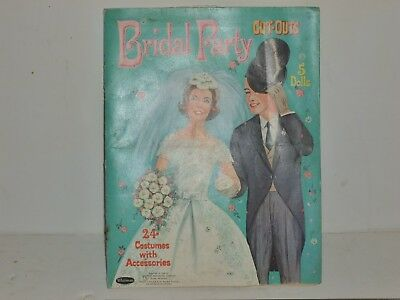 Vtg 1964 Childs Cut-Out Magazine Fashion 1958 Karen's Wedding Day Colouring Book