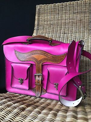 Leather Satchel-Handmade-Atelier L&P-Pink Leather