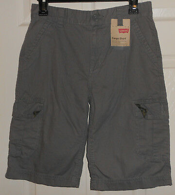 Boys Green Levis Cargo Shorts Size 14 Regular--New