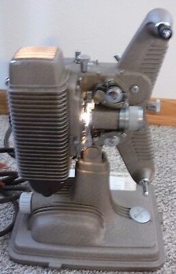 Vintage Revere Eight Model 85 8MM Film Projector Manual Works 1948 W/Screen!