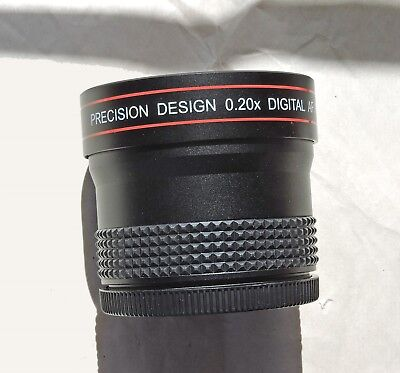 Precision Design .20x Digital Fisheye Accessory Lens 58mm Thread w/Adapters