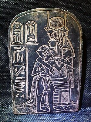 EGYPTIAN ANTIQUES  ANTIQUITIES Isis Suckling Seti I Stela Relief 1290–1279 BC