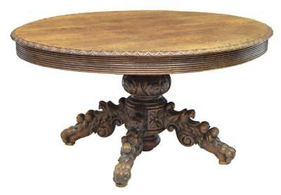 Continental Well Carved Oak Center Table Or Coffee Table 19Th / 20Th Century