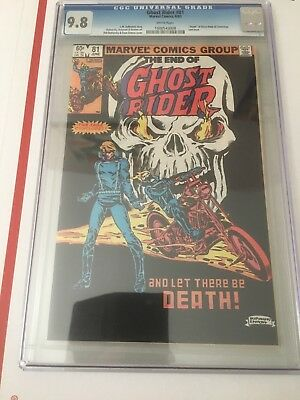 Ghost Rider #81, CGC 9.8 White Pages, Death of Ghost Rider & Centurious.