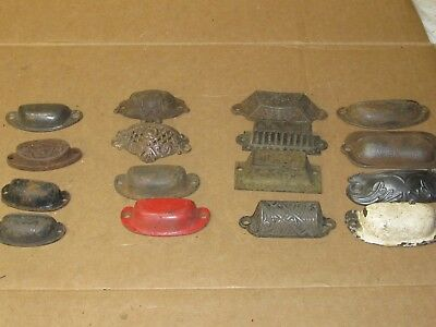 16  Vintage Cast Iron 1/2 Moon  Drawer Pulls