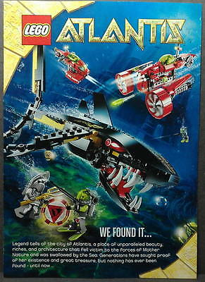 LEGO ATLANTIS 2010 CATALOGUE BOOKLET COMIC 8057 8058 8059 8060 8061 8075 minifig