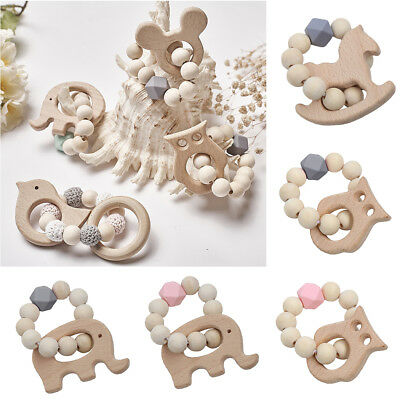 Baby Bracelet Jewelry Teething For Baby Organic Wood Baby Accessories Toys