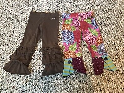 Matilda jane girls ruffled pants lot of 2 size 2