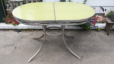 Vtg Mid-Century Chrome/Formica Kitchen  Dinette Table-Apt Size Dining Table