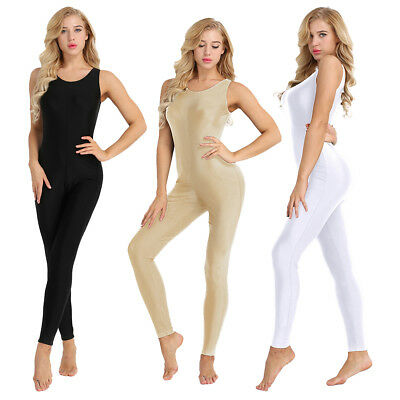 Women Adult Sport Fitness Unitard Jumpsuit Playsuit Yoga Dance Footless Stretchy