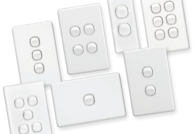 Clipsal Classic Range (C2000) Light Switches & Architraves & Power points White