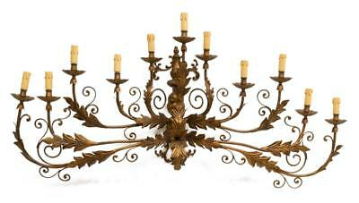 VERY LARGE FRENCH WALL SCONCE AFTER MAISON BAGUE, antique