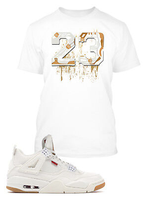 42efea213 Tee Shirt to Match Levi's x Air Jordan 4 Shoe Big and Tall or small Graphic