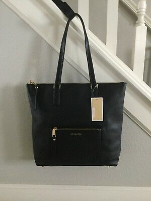 a20aecefeaa94  143.99 Buy It Now 23d 1h. See Details. Michael Kors Handbag Ariana Black  Large North South Tote New