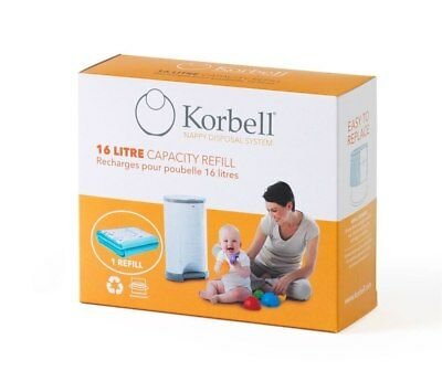 NEW Korbell Nappy Disposal 16 Litre Refill Single Pack from Baby Barn Discounts