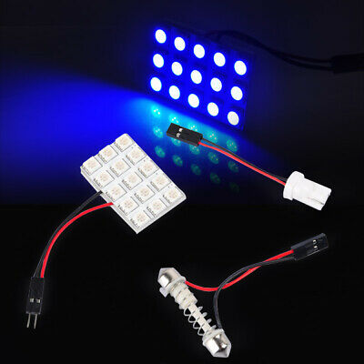 15LED SMD T10 W5W 5050 Blue Car Auto Festoon Interior Bulb Panel Reading Lamp