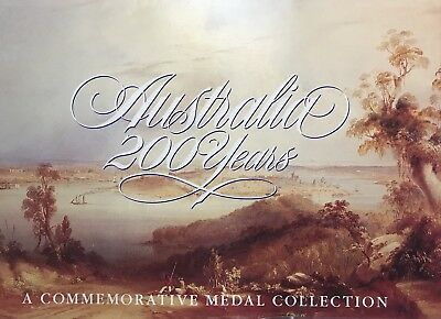 Australia 200 Years Commemorative Medal Collection In Folder