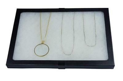 Glass Top Display Case Box 8 X 12 X 0.75 Shadow Collection Foam Jewelry New