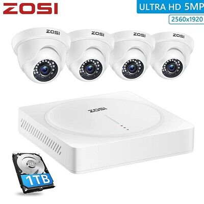 ZOSI 8CH 1080N DVR HD 1500TVL Outdoor Dome CCTV Home Security Camera System