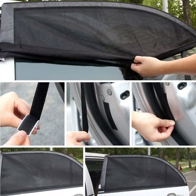 2x Car Sun Shade Cover blind mesh for Rear Side Window kids Max UV Protection