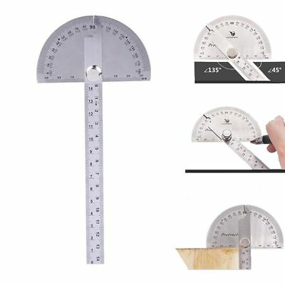 0-180 degree Stainless Steel Protractor Angle Finder with 0-145mm Arm Measuring