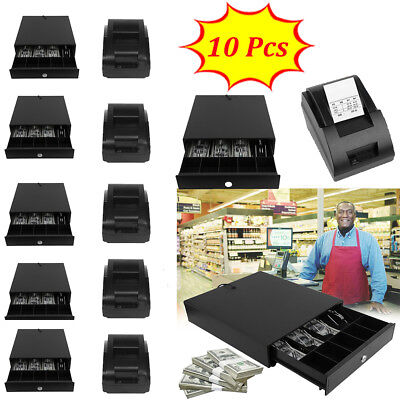 Bill 5 Coin Cash Register Drawer Box Works Compatible Epson/Star POS Printers FG