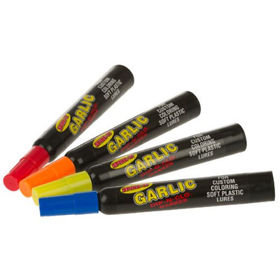 Spike It Garlic Scent Markers and Dye 4 Colours Soft plastics Free Postage