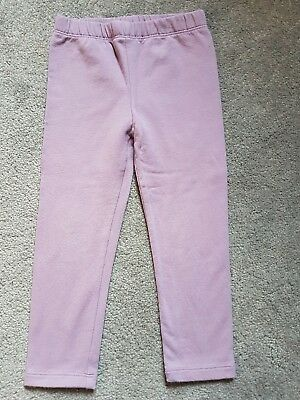 BabyGap Girls Leggings Mauve Colour Size 3 Years Good Used Condition