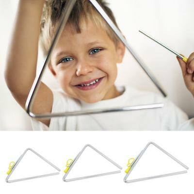 """6""""/7''/8'' Musical Triangle & Beater Percussion Instrument Music School Toy"""