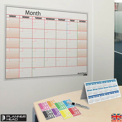 laminated monthly planner wall chart month planner any month any